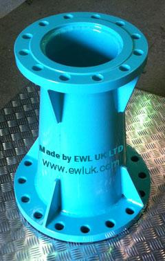 Polyethylene coated pipe made by EWL (UK) Ltd